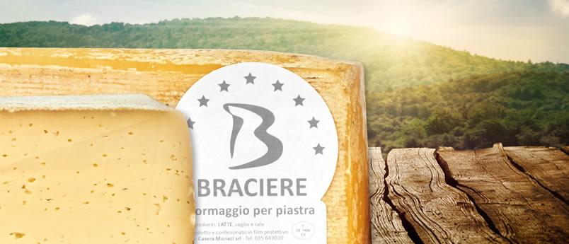 Braciere formaggio per piastra